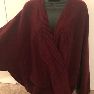Gorgeous Wine 1x Double V sweater